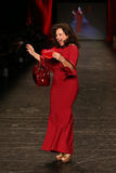 Fran Drescher. NEW YORK-FEB 11: Fran Drescher wears Le Petite Robe di Chiarra at Go Red for Women Red Dress Collection 2016 Presented by Macy's at New York Royalty Free Stock Image