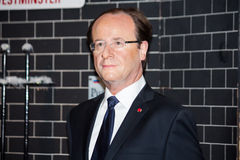 François Hollande wax figure Royalty Free Stock Images