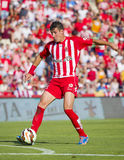 Fran Sandaza. Of Girona in action at the Spanish Second Division League match between Girona FC and CD Lugo, final score 1 - 1, on June 7, 2015, in Girona Stock Photo