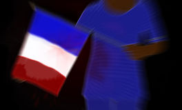 França ferido após a ilustração dos ataques Imagem de Stock