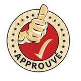 Francés aprobado: Sello de goma de Approuve libre illustration