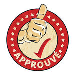 Francés aprobado: Sello de goma de Approuve stock de ilustración
