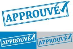 Francés aprobado: Sello de goma/etiqueta de Approuve stock de ilustración