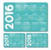 Francés del calendario de la turquesa Imagen de archivo libre de regalías
