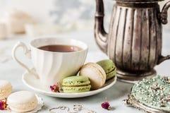 Francés Macarons, estilo del vintage Imagen de archivo libre de regalías