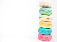 Francês colorido saboroso e sortido Macarons Foto de Stock