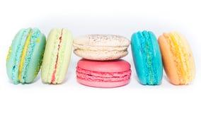 Francês colorido saboroso e sortido Macarons Foto de Stock Royalty Free