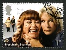 Francês e selo postal de Saunders Reino Unido Fotos de Stock Royalty Free