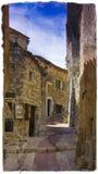 Francês Eze da foto do vintage Imagem de Stock