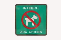 Francês nenhum sinal dos cães Fotos de Stock