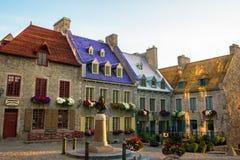 Francês velho colorido Quebeque do vintage fotografia de stock royalty free