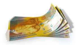 Franc Bank Notes Spread Royalty Free Stock Image