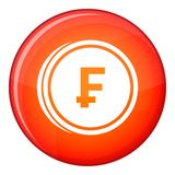 Franc coins icon, flat style Stock Photo
