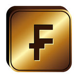 Franc currency symbol icon Stock Image