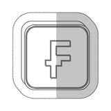 Franc currency symbol icon Royalty Free Stock Photos