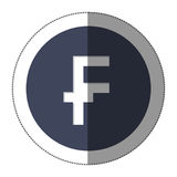 Franc currency symbol icon Stock Photography