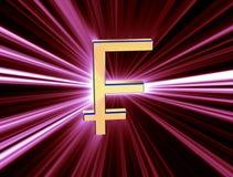 Franc de devise de symbole Photos libres de droits