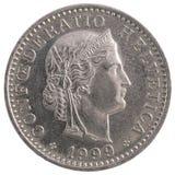 20 franc mynt Arkivfoton
