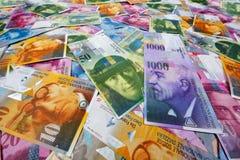 Franc suisse Photographie stock libre de droits