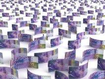 Franc suisse dispersé illustration de vecteur