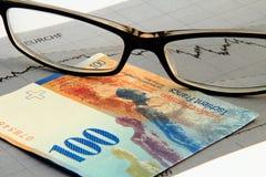Franc suisse intense photo libre de droits