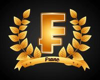 Franc symbol. Design, vector illustration eps10 graphic Royalty Free Stock Image