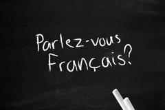 Francais de Parlez-vous Foto de archivo libre de regalías