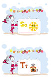Francais del alfabeto. Alfabeto francés, vector S, T Imagenes de archivo