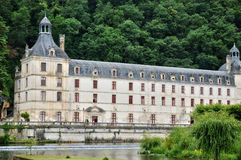France, abbey church of Brantome in Perigord Royalty Free Stock Images