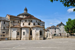 France, abbey church of Souillac in Lot Royalty Free Stock Images