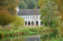 France, abbey of Fontaine Guerard in Radepont Royalty Free Stock Images
