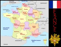France Administrative divisions Stock Images