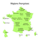 France administrative map with new regions Stock Image