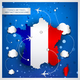 France air travel abstract background Stock Photos