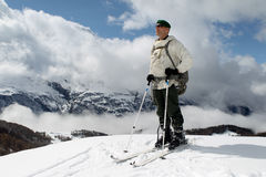 France, Alps - December 4, 2011. Legionnaire-sapper during the mountain training. Stock Photography