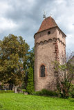 France, Alsace, a middle age tower in Obernai Royalty Free Stock Photo
