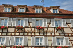 France, Alsace, picturesque old old village of Eguisheim Stock Photography