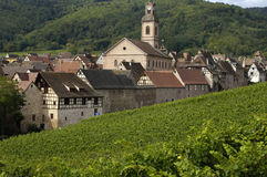 France, Alsácia, Riquewihr Fotografia de Stock