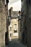 Fougères in Brittany. France. An ancient street in the ancient city of Fougères in Brittany. Fougères is a fortified city Stock Images