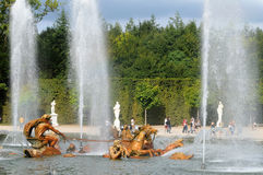 France, Apollo fountain in the Versailles Palace park Stock Photos