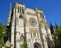 France, Aquitaine, Bordeaux, Saint Andrew Cathedral Stock Image