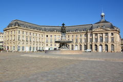 France, Aqutaine, Bordeaux,Place of the Bourse Stock Photos