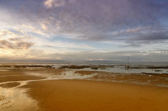France, Arcachon bay. French destination Arcachon Bay and low tide Royalty Free Stock Image