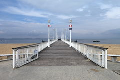 France, Arcachon, pier Thiers Royalty Free Stock Photography