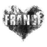 France art. Street graphic style France. Fashion stylish print. Template apparel, card, label, poster. emblem, t-shirt stamp graph Stock Photos