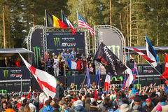 France as Champions Motocross of Nations 2014 Royalty Free Stock Images