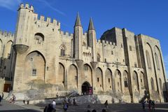 France. Avignon. the Palais des Papes. stock photos