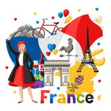 France background design. Royalty Free Stock Photos