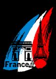 France background design. French traditional symbols and objects Royalty Free Stock Photos