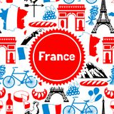 France background design. French traditional symbols and objects Stock Photography